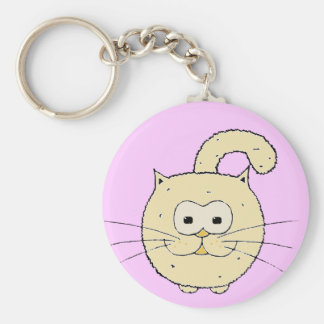 Kitty-cat Basic Round Button Key Ring