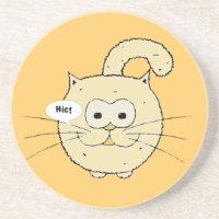 Kitty-cat coaster