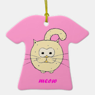 Kitty-cat Ceramic T-Shirt Decoration