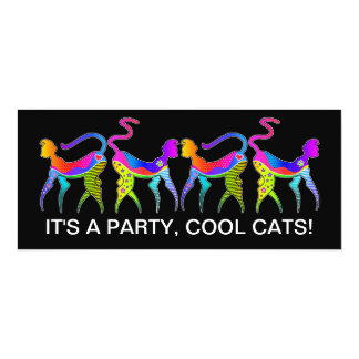 KITTY CAT COOL CATS PARTY INVITATION