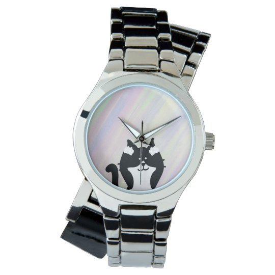 Kitty Cat Covering Ears with Background Wristwatch