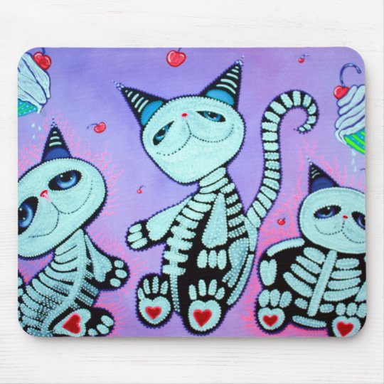 Kitty Cat Cupcakes Mouse Mat