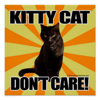 Kitty Cat Don t Care Print