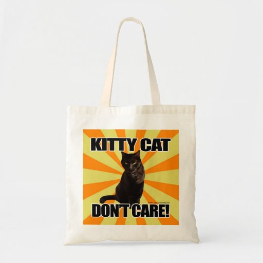 Kitty Cat Don't Care Canvas Bag