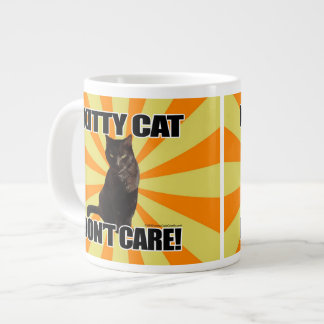 Kitty Cat Don't Care Large Coffee Mug
