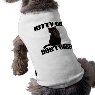 Kitty Cat Don't Care Sleeveless Dog Shirt