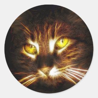 Kitty cat eyes glow fractal stickers
