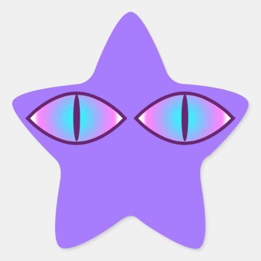 Kitty Cat Eyes Stickers