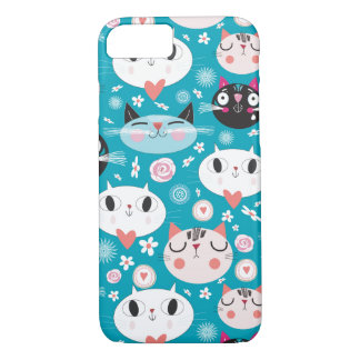 Kitty Cat Faces iPhone 7 Case