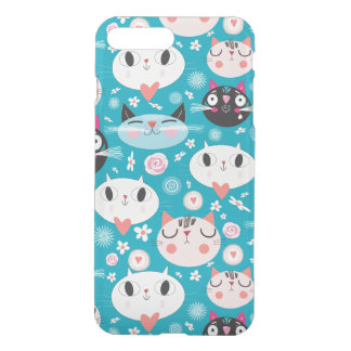 Kitty Cat Faces iPhone 7 Plus Case
