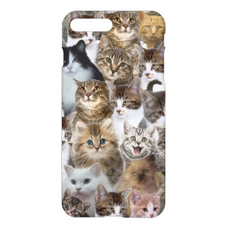 Kitty Cat Faces Pattern iPhone 7 Plus Case