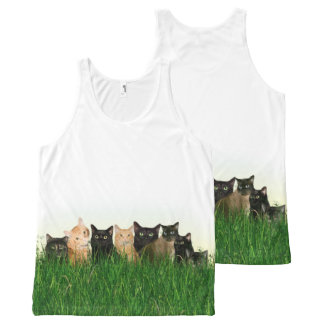 Kitty cat family All-Over print tank top