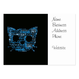 Kitty Cat Feline Furry Friend Typography Art Pack Of Chubby Business Cards
