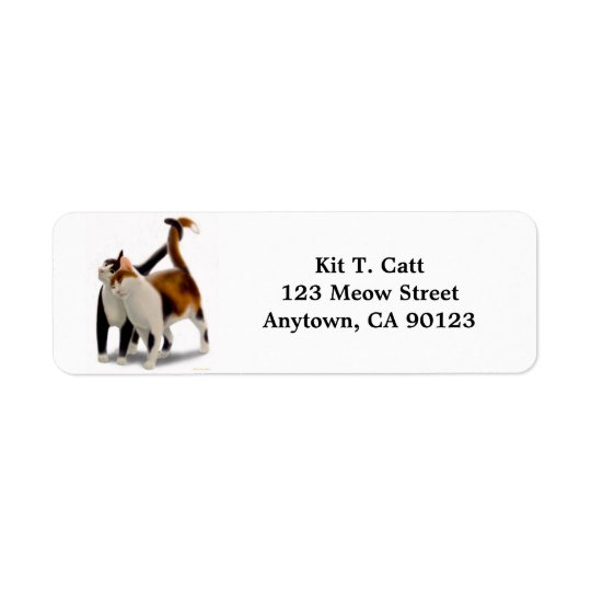 Kitty Cat Friends Customisable Return Address Label