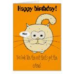 Kitty-cat Greeting Card