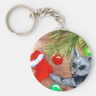 Kitty Cat Is It Christmas Yet Holiday Fun Key Chain