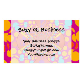 Kitty Cat Kaleidoscope Pink Teal Polka Dots Pack Of Standard Business Cards