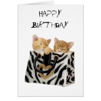 Kitty Cat Kitten Birthday Card