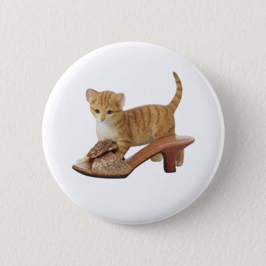 Kitty Cat Kitten Button
