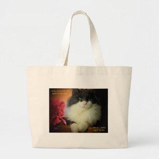 Kitty Cat Not Afraid of Commitment Jumbo Tote Bag