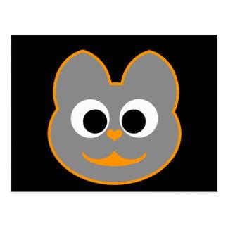 Kitty Cat orange - Gray Postcard