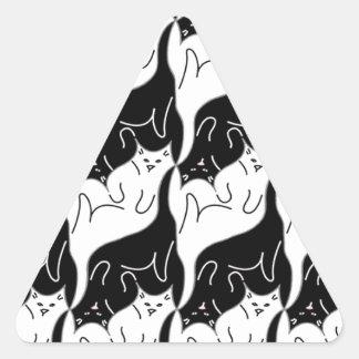 Kitty Cat Pattern Triangle Sticker
