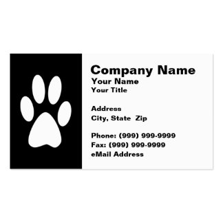 Kitty Cat Paw Print Business Card Template