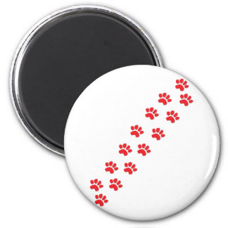 Kitty Cat Paws 6 Cm Round Magnet