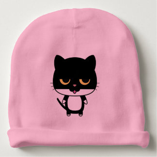 Kitty Cat Pink Baby Beanie Hat