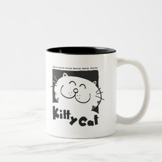 Kitty Cat - Smart Cat Two-Tone Coffee Mug