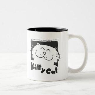 Kitty Cat - Smart Cat Two-Tone Mug