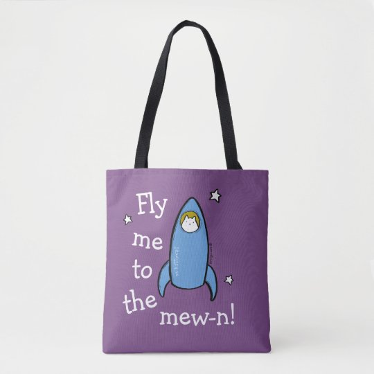 Kitty Cat Space Explorer Tote Bag