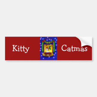 Kitty Catmas Bumper Stickers