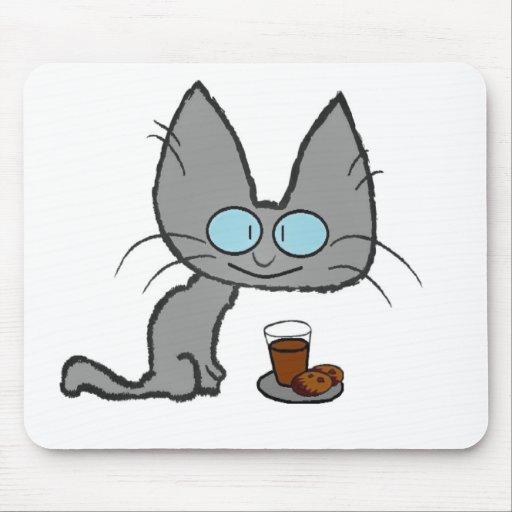Kitty Cats chocolate chip cookies & chocolate milk Mousepad