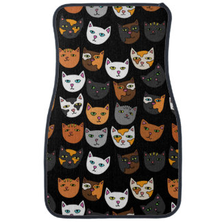 Kitty Cats everywhere pattern Floor Mat