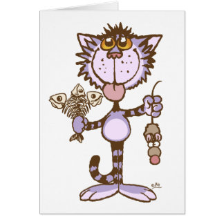 Kitty Cat's Show of Love notecard Note Card