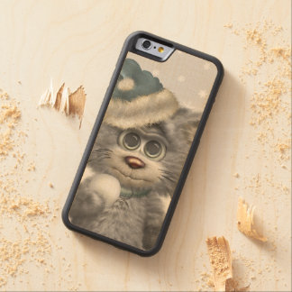 Kitty Cats Winter Wonderland Carved Maple iPhone 6 Bumper Case