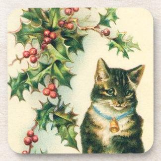 Kitty Christmas Coasters