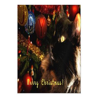 Kitty Christmas Greetings Magnetic Card