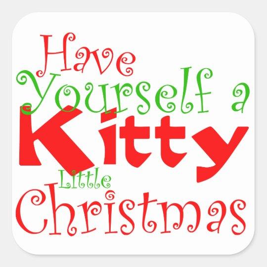Kitty Christmas Holiday Pet Sticker