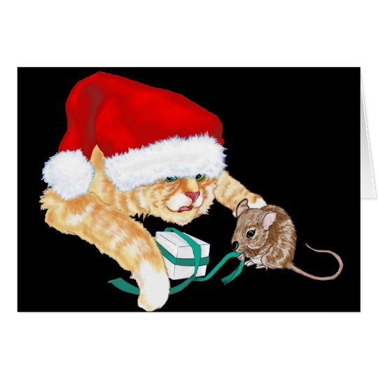 Kitty Claus Card