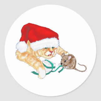 Kitty Claus Stickers