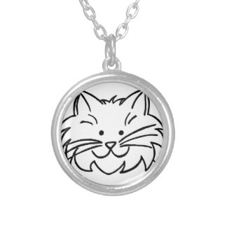 Kitty Doodle Necklace