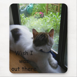 """KITTY DREAMS OF OUTDOOR FUN"" MOUSE PAD"