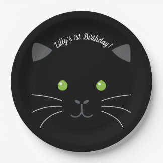 Kitty Face Paper Plate
