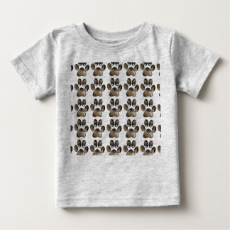 Kitty Face Paw Baby Fine Jersey T-Shirt