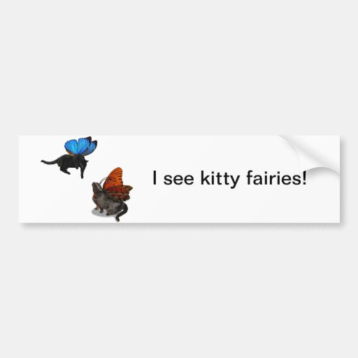 kitty fairies at play bumper stickers