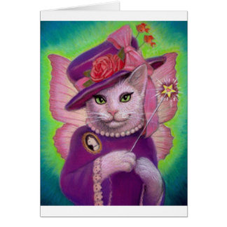 Kitty Fairy Godmother Greeting Card