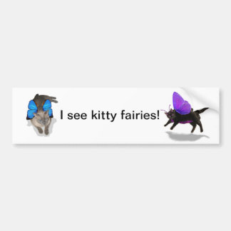 kitty fairy play time siamese bumper sticker car bumper sticker