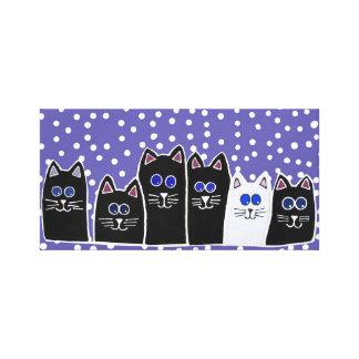 Kitty Family Canvas Print